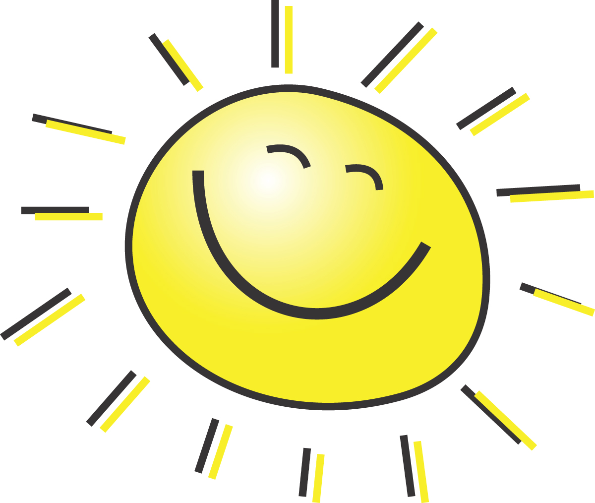 Clip Art 5 Free Summer Clipart Illustration Of A Happy Smiling Sun Jpg
