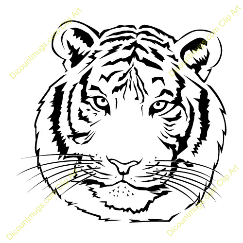 Clipart 11112 Tiger   Tiger Mugs T Shirts Picture Mouse Pads   More