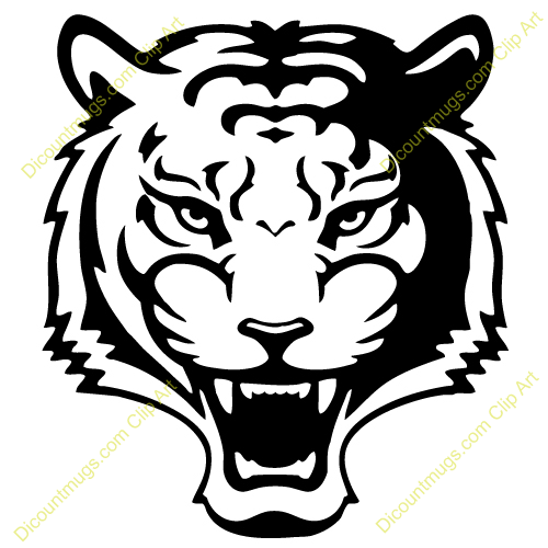 Clipart 12328 Roaring Tiger   Roaring Tiger Mugs T Shirts Picture