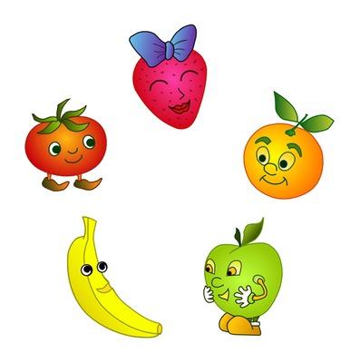 Cartoon Fruit Clipart - Clipart Kid