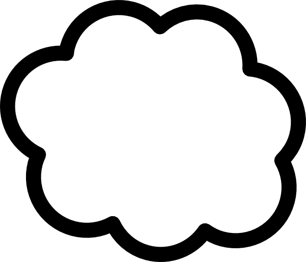 Cloud Clip Art At Clker Com   Vector Clip Art Online Royalty Free
