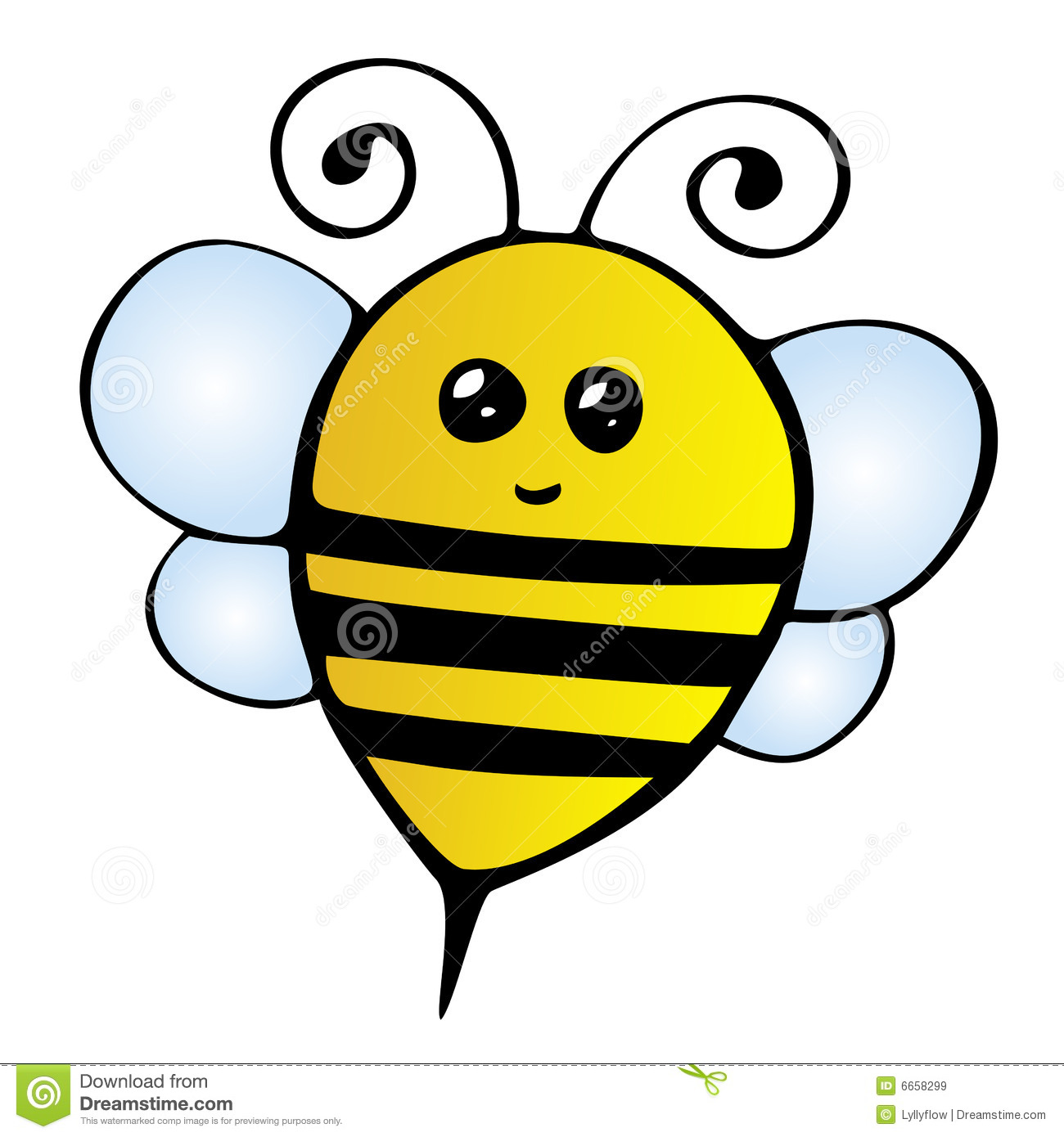 Cute Bee Clipart - Clipart Kid