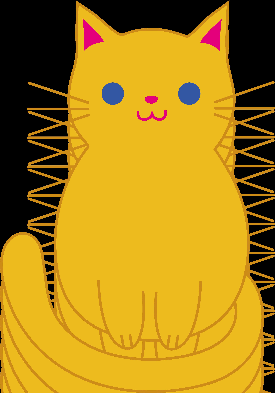 Cute Cartoon Cat Clipart - Clipart Kid
