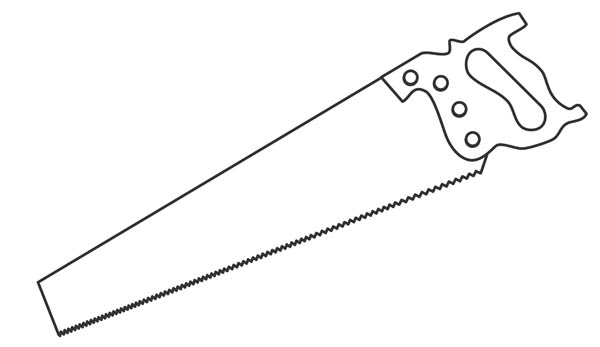 Drawing Of A Hand Saw   Free Clip Art