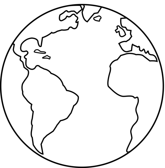 Planet Earth Black Clipart - Clipart Suggest