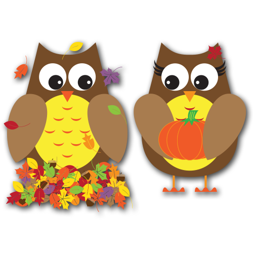 Fall Owls Clip Art Svg