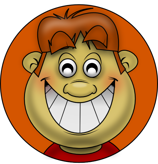 Free Chubby Boy With A Wide Grin Clip Art