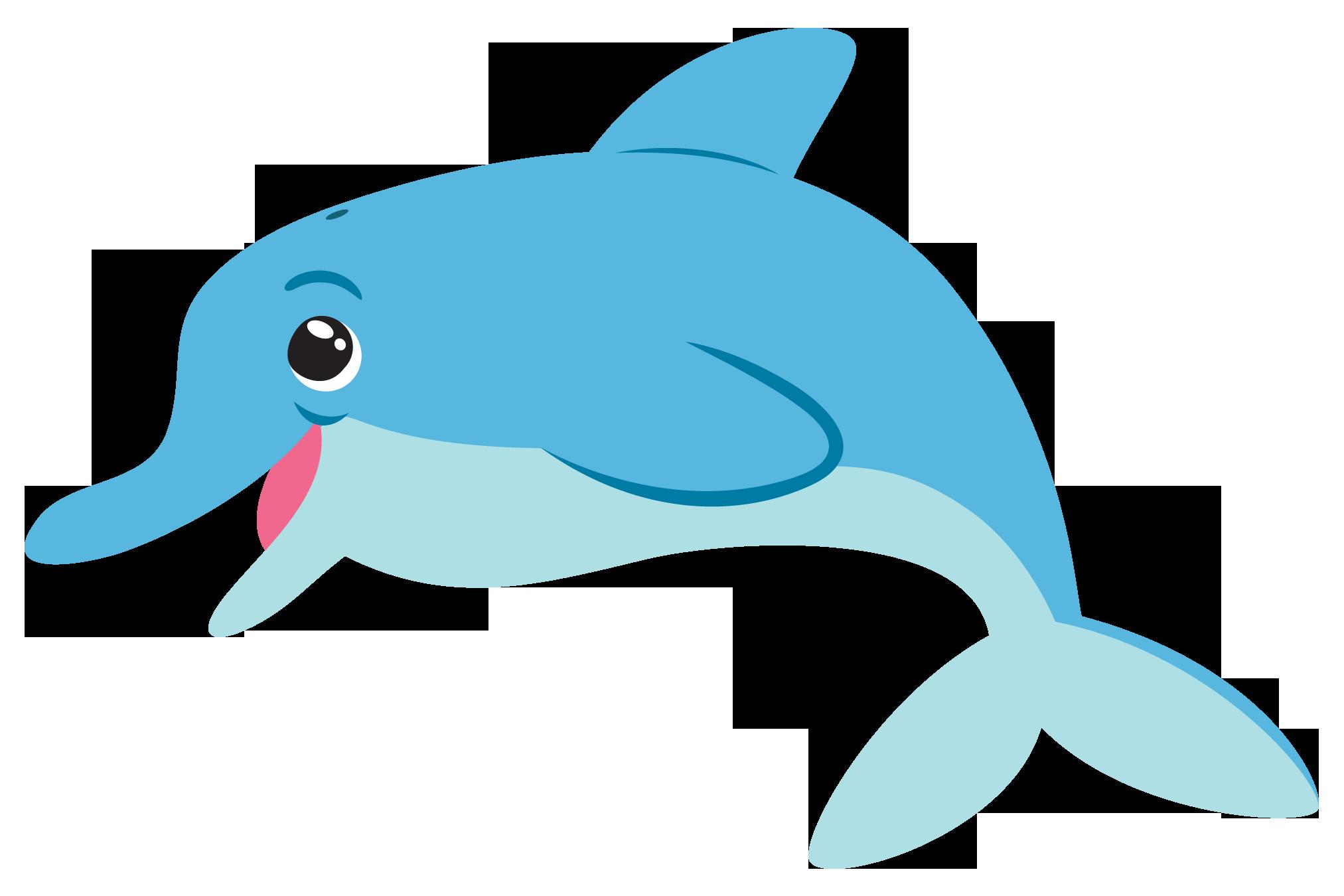 Free Cute Dolphin Clip Art