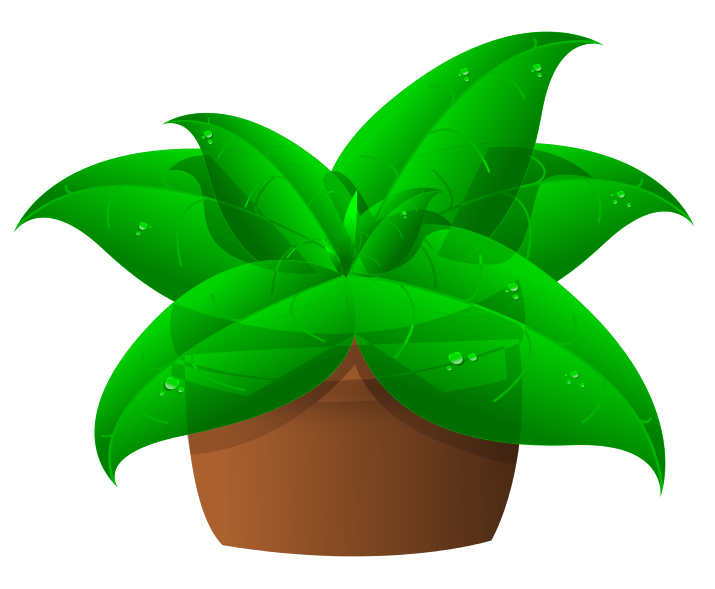 Free Green Plant In Pot Clip Art