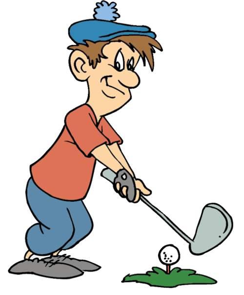 Golfer Clipart - Clipart Kid