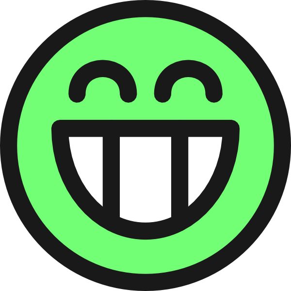 Grin Smiley Emotion Icon Emoticon Clip Art At Clker Com   Vector Clip