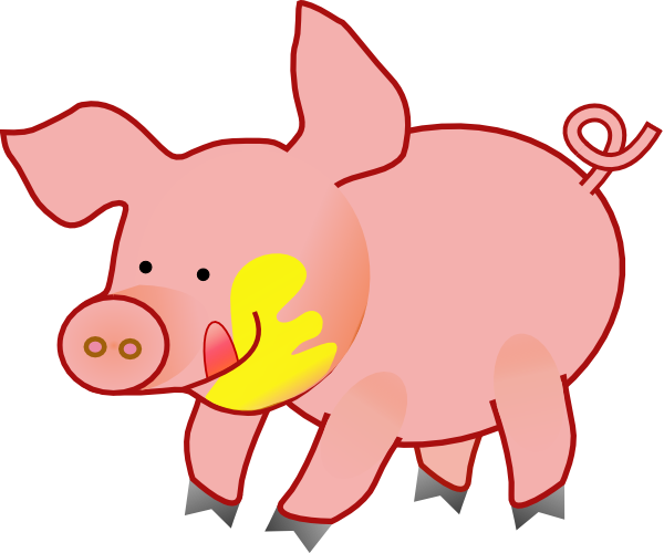 Happy Pig Clip Art At Clker Com   Vector Clip Art Online Royalty Free