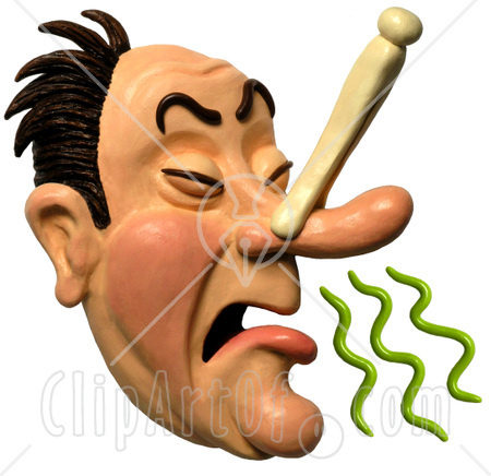 His Nose Trying To Avoid Breathing In A Bad Smell Clipart Picture Jpg