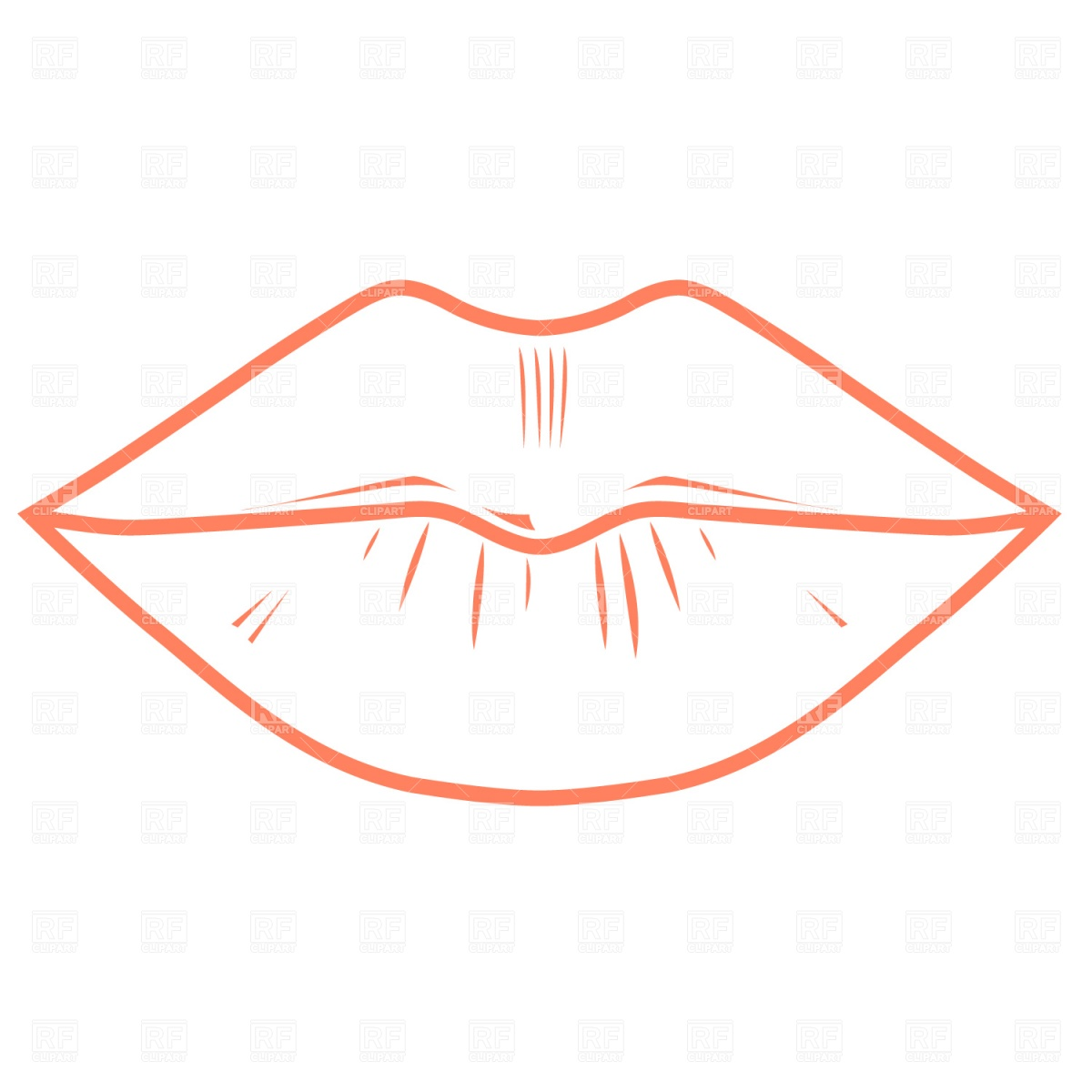 Lips Outline Download Royalty Free Vector Clipart  Eps