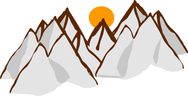 Mountain Range Sunset Clip Art At Clker Com   Vector Clip Art Online