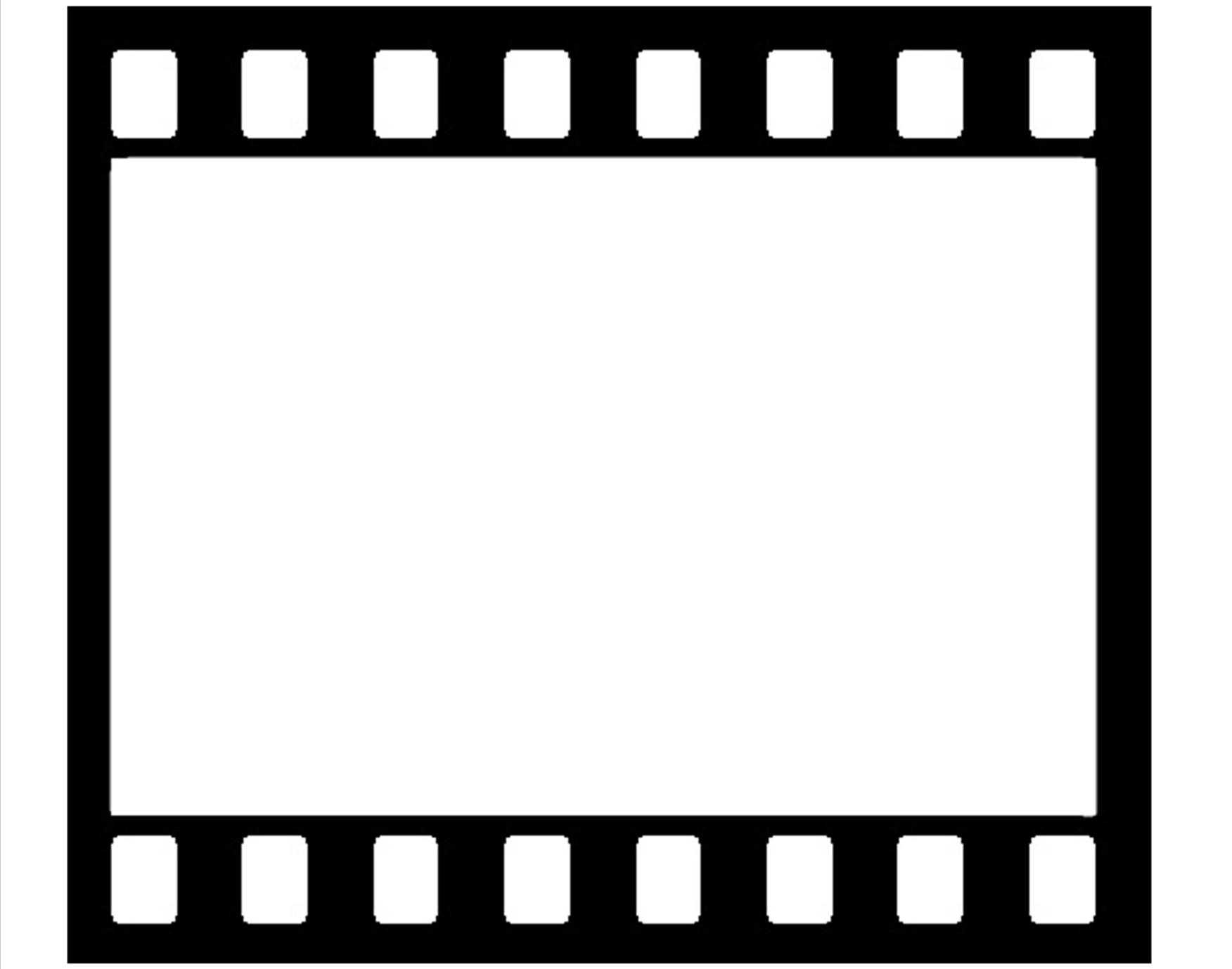 Movie reel vector clipart clipart suggest for Film strip picture template