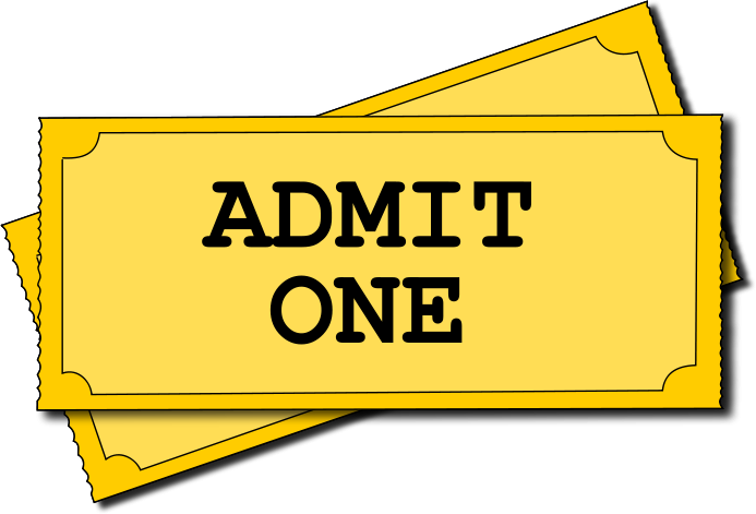 Movie Tickets Admit One   Http   Www Wpclipart Com Recreation
