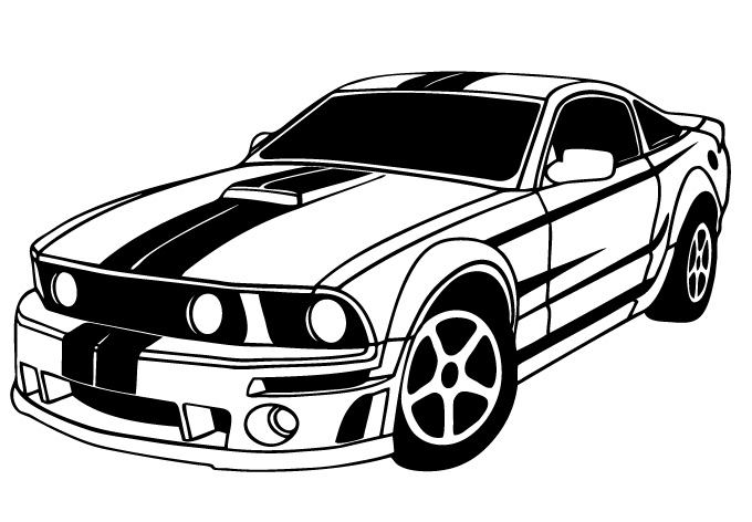 Muscle Car Drawing   Clipart Best