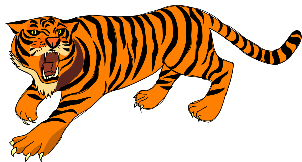 Roaring Tiger Clip Art At Clker Com Vector Clip Art Online Royalty