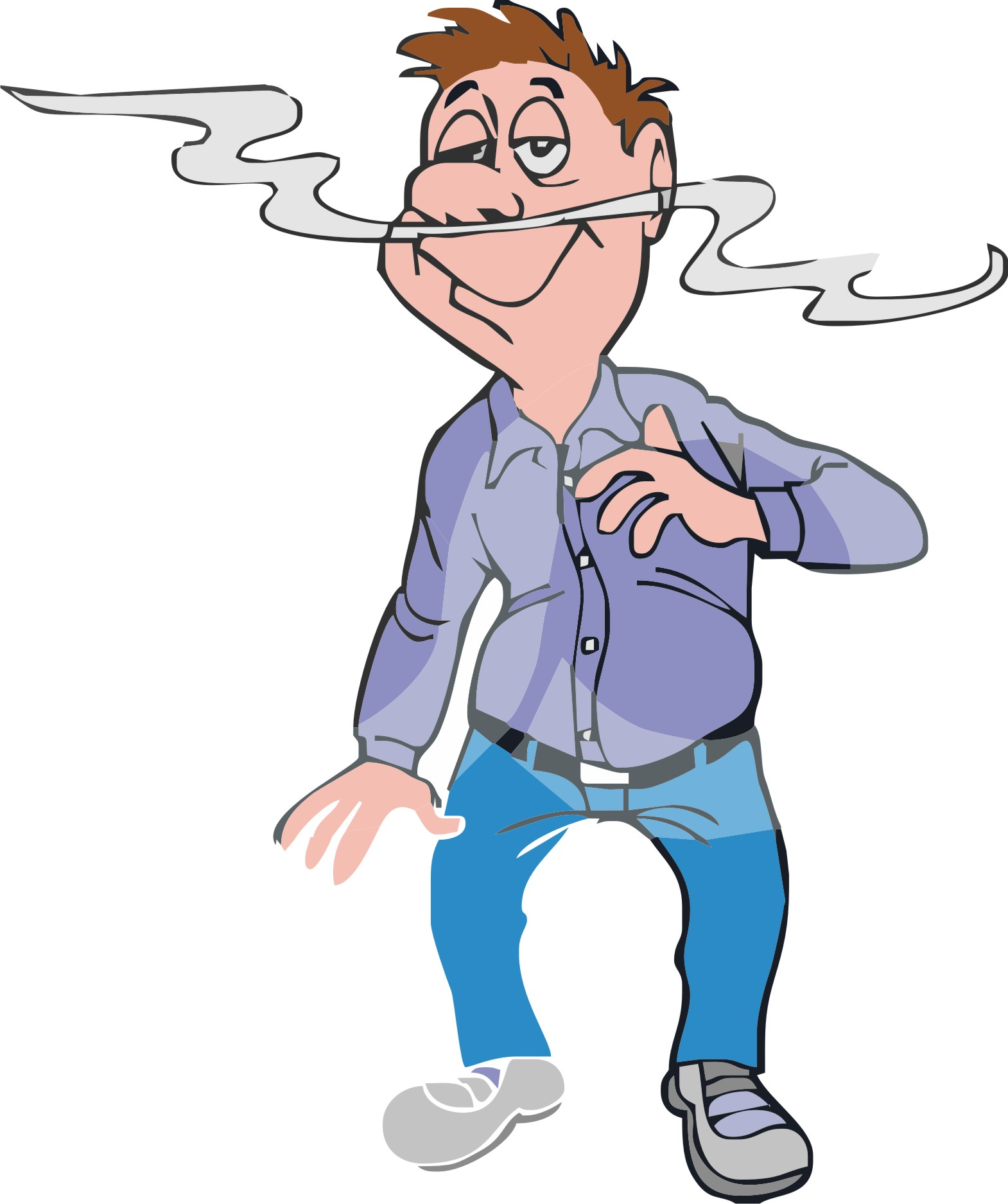 Smell Clipart 1083376 Clipart Man Smelling An Aroma Royalty Free