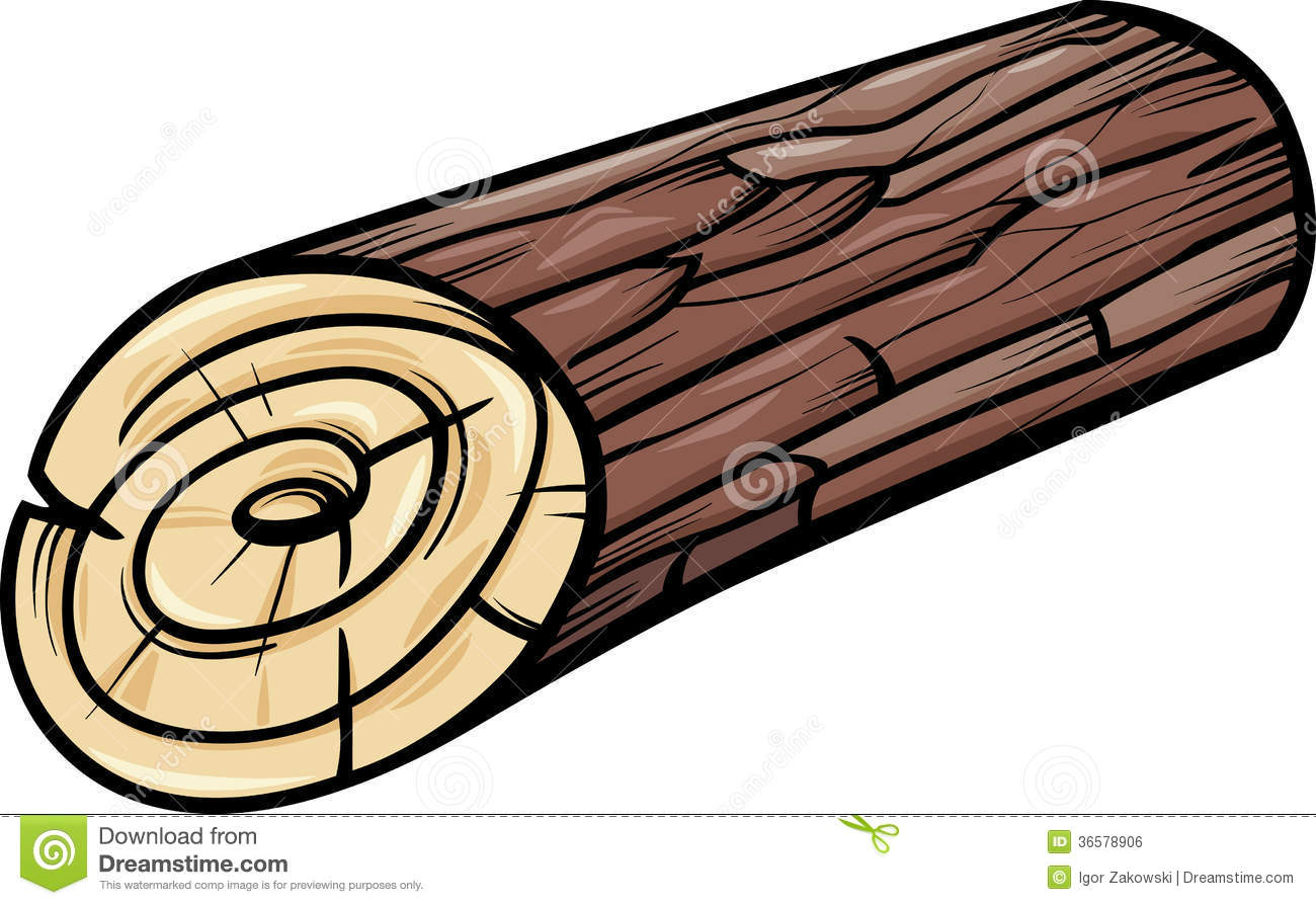 Wood Log Clipart Wooden Log Or Stump Cartoon