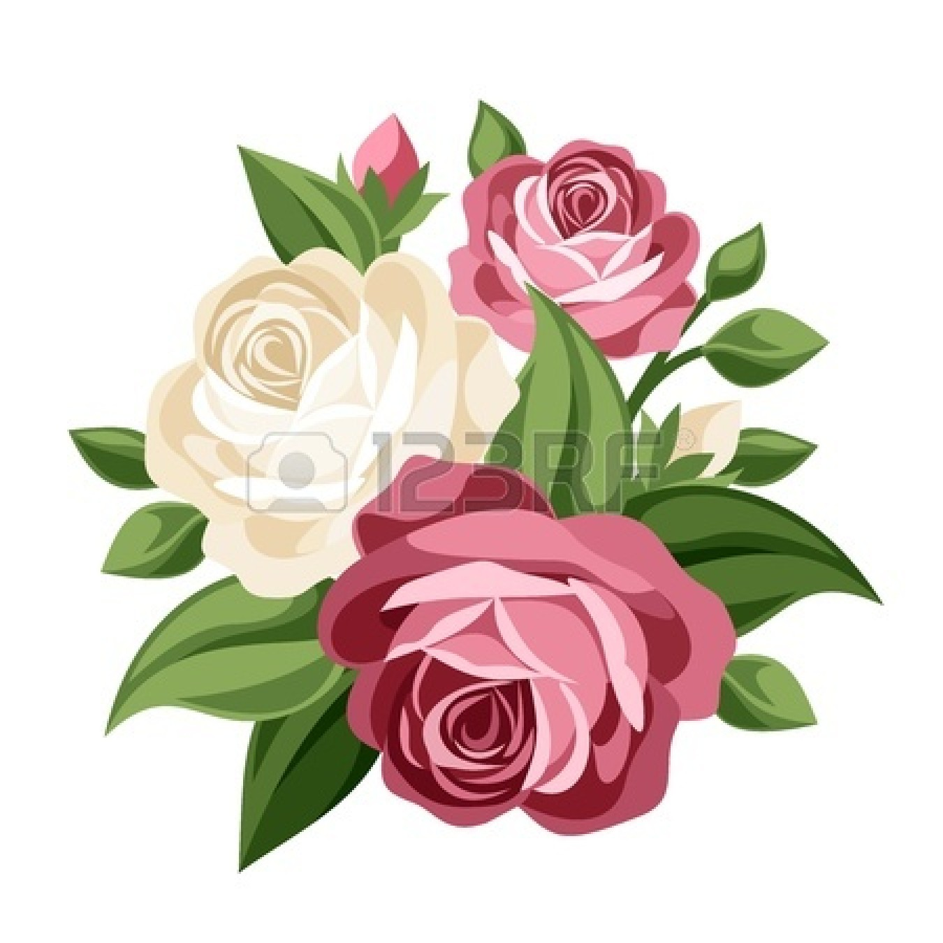 Vintage Rose Clipart - Clipart Kid