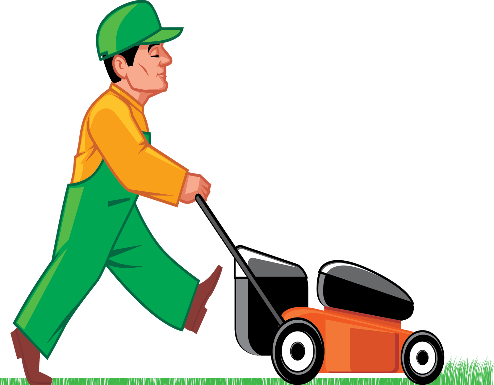 Lawn Cutting Clipart - Clipart Kid