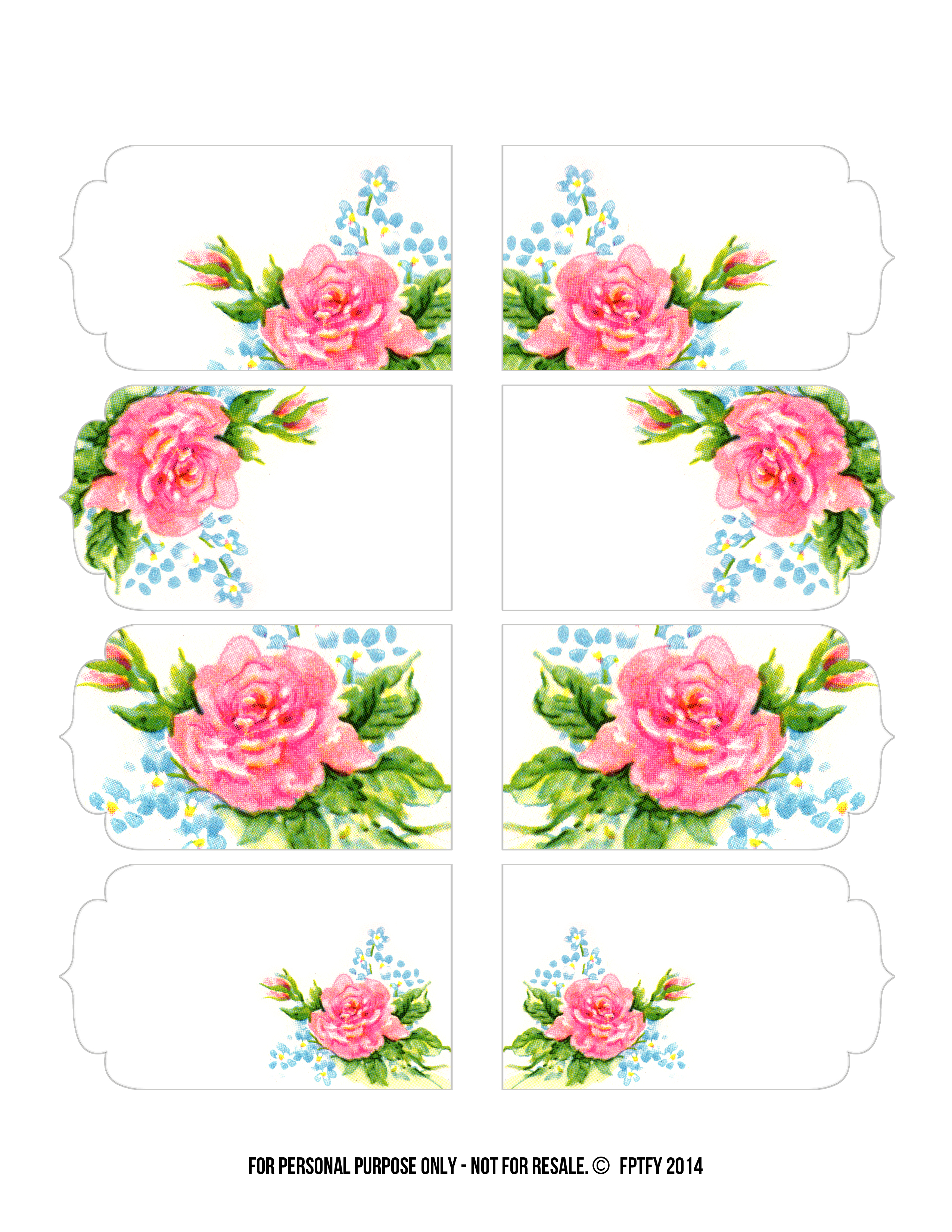 Blogs  Vintage Freebie With Keren  Gorgeous Rose Tags And Clipart