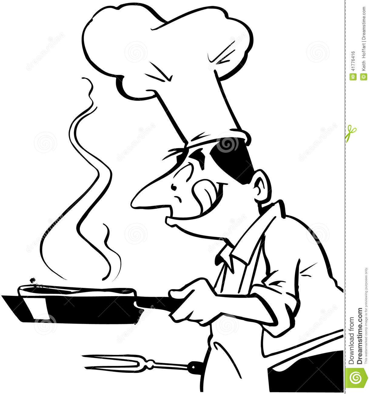 Cook Clipart Black And White