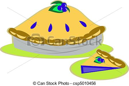 Clip Art Vector Of Blueberry Pie   Here Is A Whole Pie And Slice