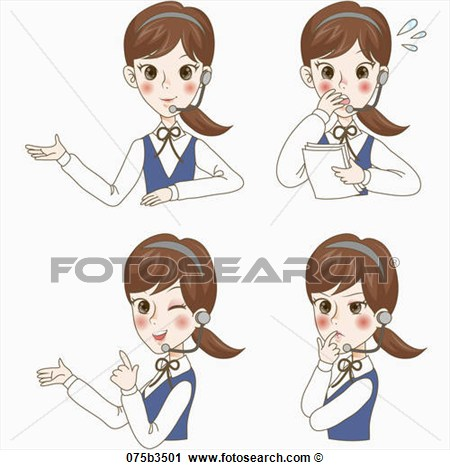 Clipart Of Various Types Of Expressions Office Lady 075b3501   Search