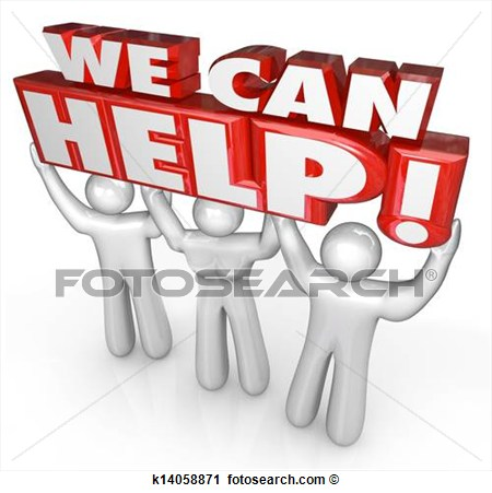 Clipart   We Can Help Customer Service Support Helpers  Fotosearch
