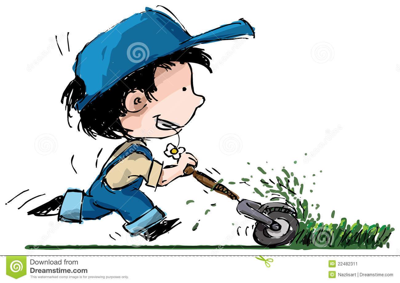 lawn cutting clipart clipart kid cut the grass clipart cartoon boy cutting grass