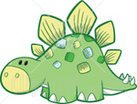 Cute Green Baby Stegosaur Dino Cute Green Baby