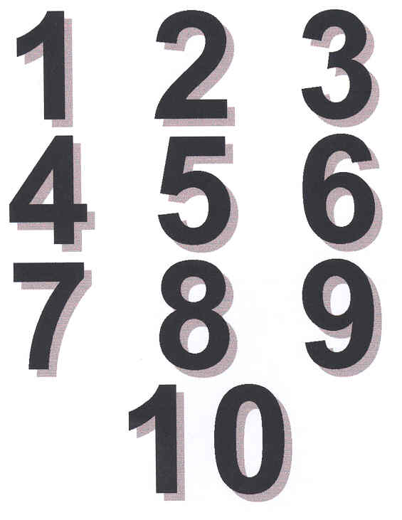 Fancy Numbers 1 10 Clipart   Cliparthut   Free Clipart