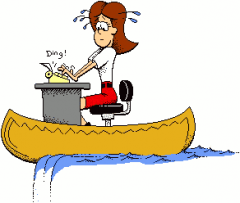 Free Office Lady In Canoe Clip Art
