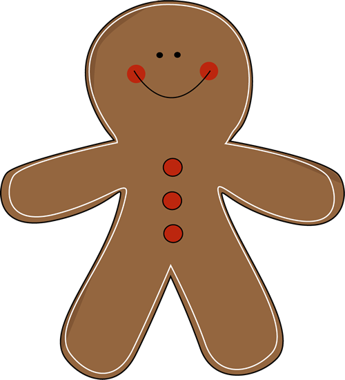 Gingerbread Man Clip Art   Gingerbread Man With Red Rosy Cheeks And