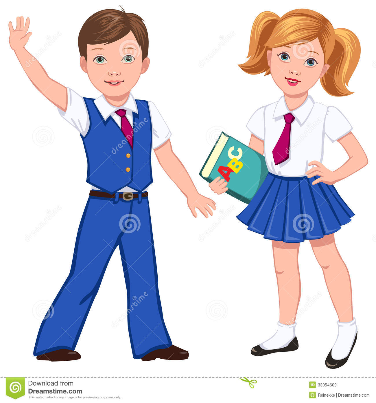 Clip Art Uniform Clipart uniform clipart kid pupils with book royalty free stock images image 33054609