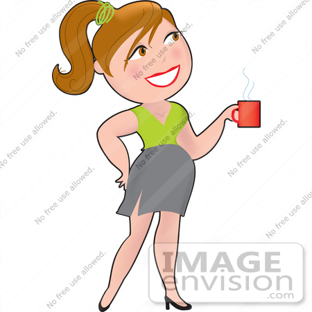 Royalty Free Clipart Of A Dainty Character Lady Businesswoman Carrying