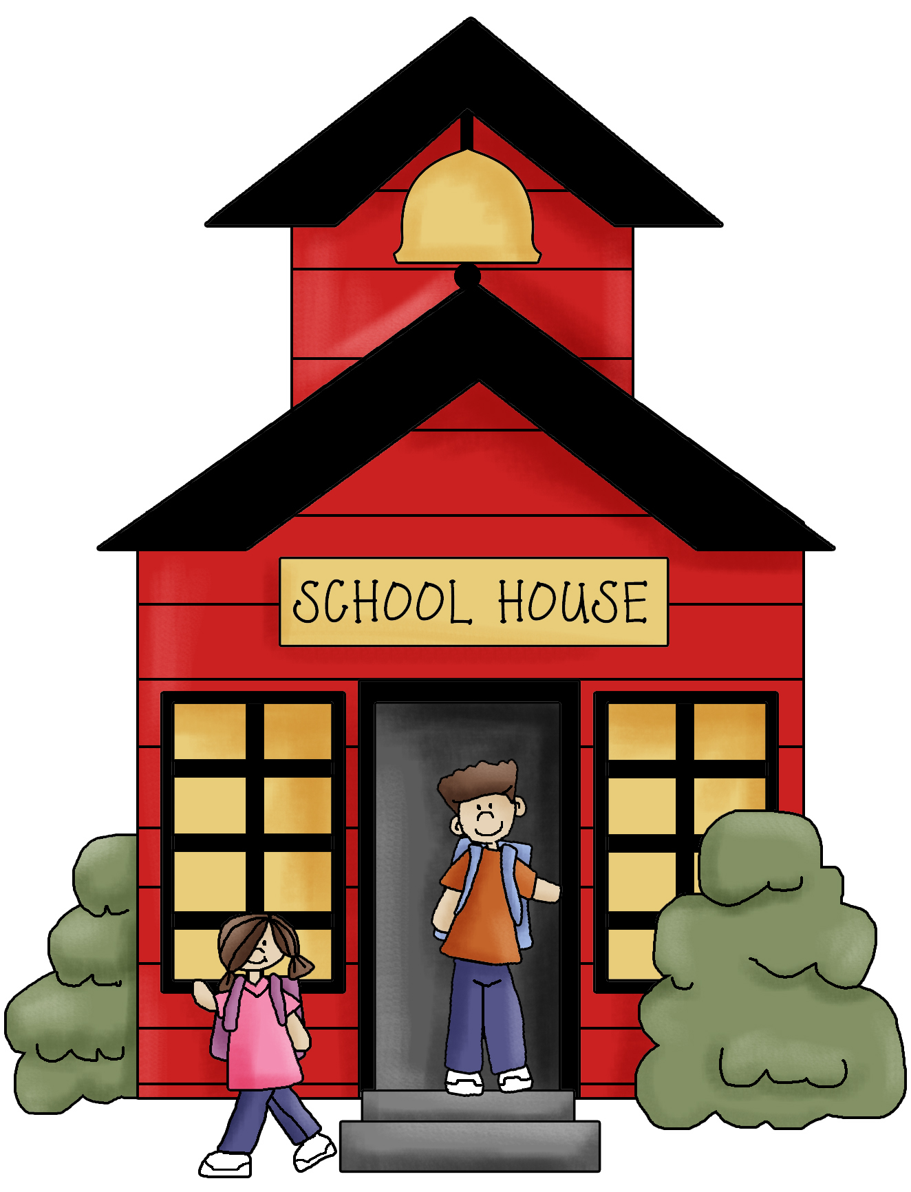 School House Clip Art Black And White   Clipart Panda   Free Clipart