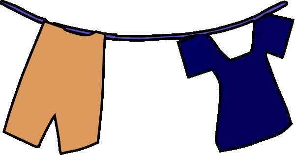 School Uniform On Clothesline Clip Art