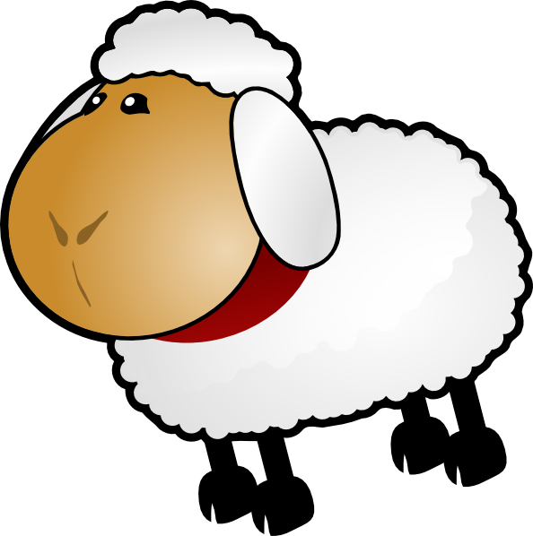 Sheep Rotate 6 Clip Art At Clker Com   Vector Clip Art Online