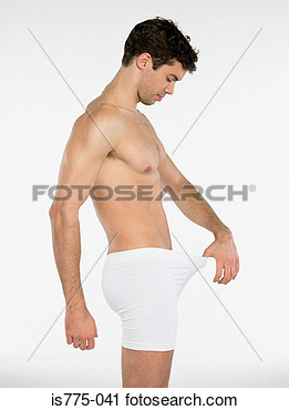 Stock Photography   Man Looking In His Underpants  Fotosearch   Search