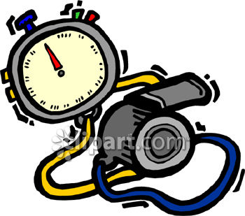 Stopwatch And Whistle Clipart Royalty Free Clipart Image
