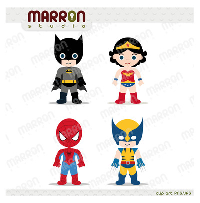 Superhero Inspired Set Batman Wonder Woman Spider Man And Wolverine