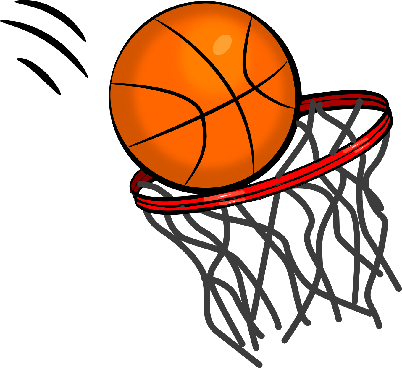 The Totally Free Clip Art Blog  Sports   Basketball With Hoop