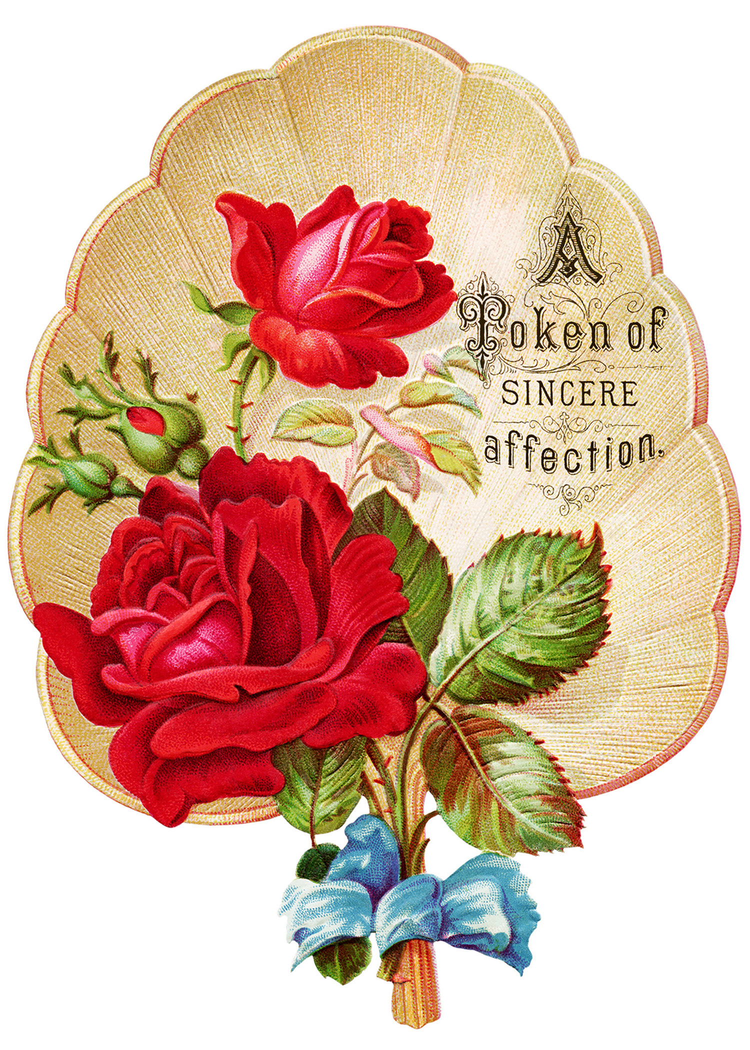 Victorian Rose Clipart Vintage Clip Art Fan Red Rose Graphics Free