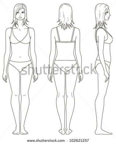 Women Body Outline Template