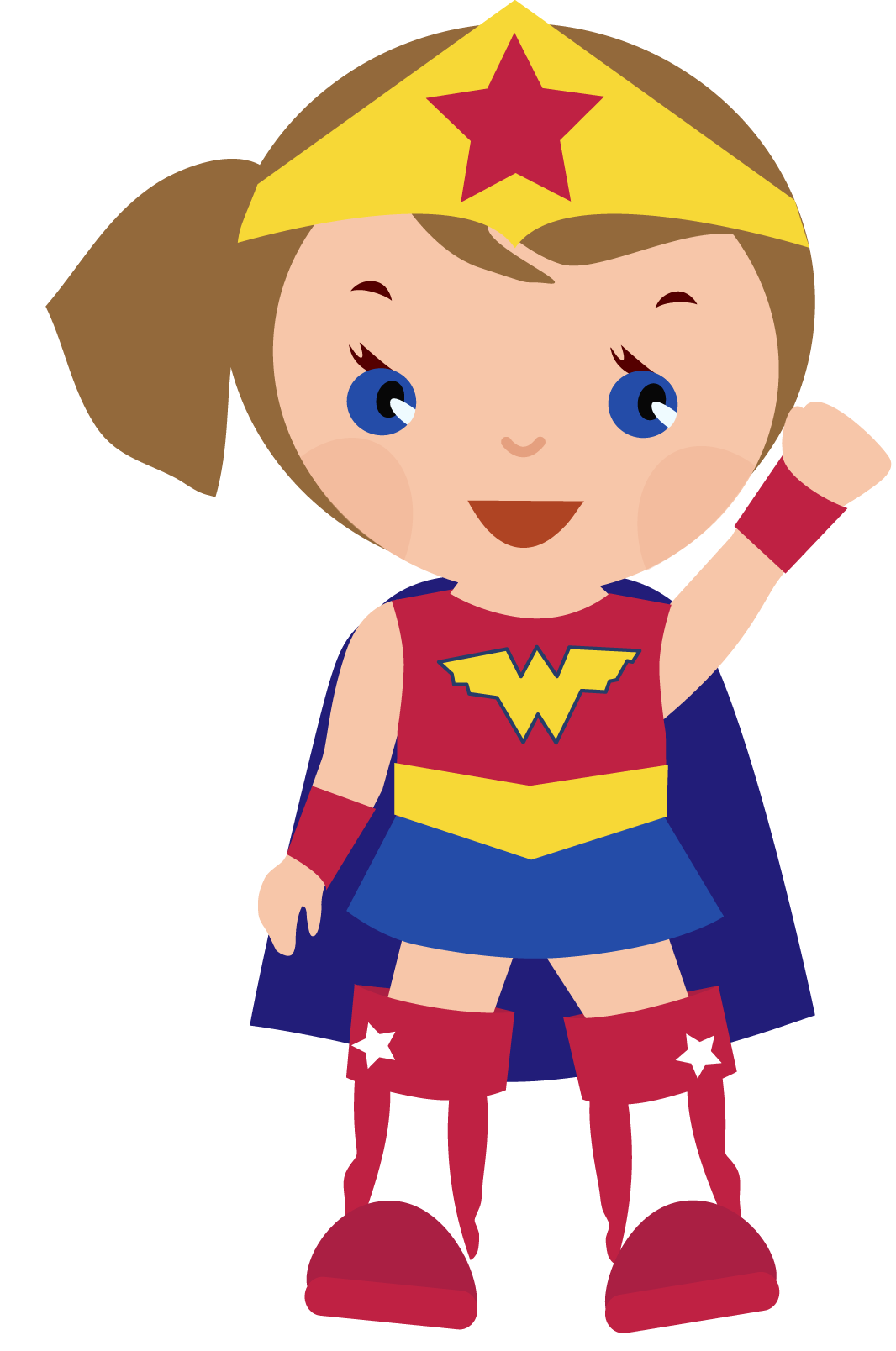 Wonder Woman Cute Clipart - Clipart Kid