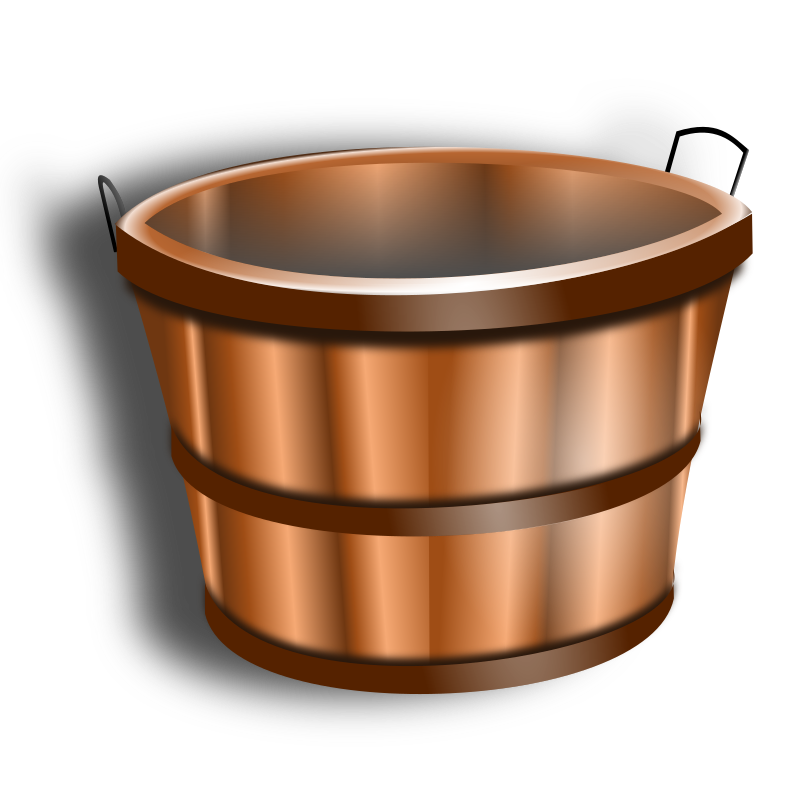Wooden Bucket By Hatalar205   A Simple Wooden Bucket Clipart